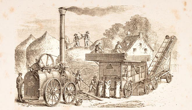 Farming -steam -engine