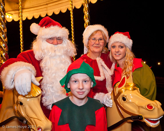 Father Christmas - a family shot